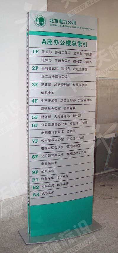 办公楼弧形立地楼层索引牌404